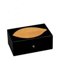 Zino Tobacco Leaf Black Lacquer Humidor Large