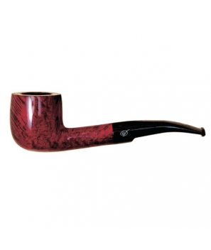 Davidoff Pipe No. 203 Half Bent Pot Double Red Finish