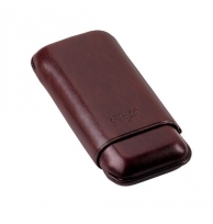 Davidoff Brown Leather Two Finger Corona Cigar Case