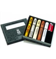 Alec Bradley 5 Cigar Tubo Sampler w/ lighter