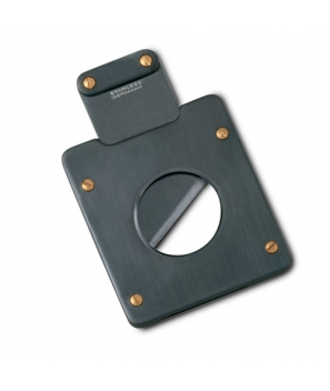 Zino Guillotine Single Blade Metal Cigar Cutter Titanium-Anthracite