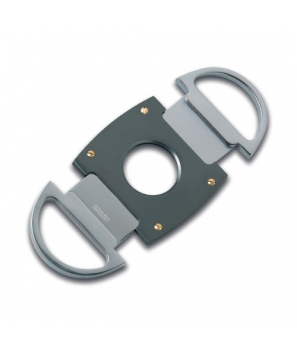 Zino Double Blade Metal Cigar Cutter Titanium-Anthracite