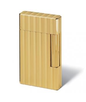 Davidoff Prestige Lighter Gold Plated Lines and Stripes