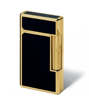 Davidoff Prestige Lighter Black Lacquer With Gold Accents