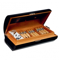 Zino Platinum Cavern Series Humidor In Black