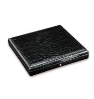 Davidoff Medium Leather Type Croco Black Travel Humidor