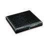Davidoff Medium Leather Type Croco Black Travel Humidor
