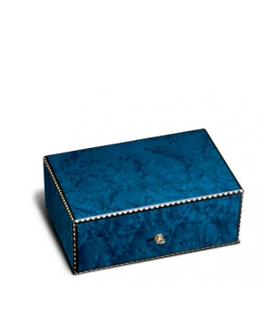The Griffin's Medium Blue Birdseye Maple Humidor
