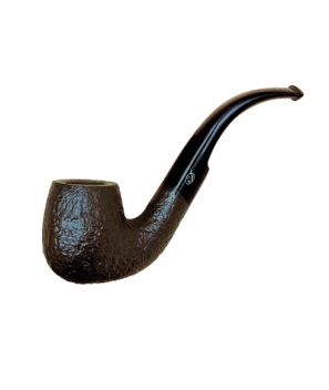 Davidoff Pipe No. 109 Classic Bent Sandblasted Black