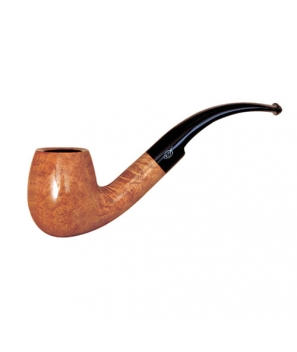 Davidoff Pipe No. 404 Large Bent Bright Natural Finish