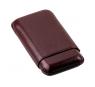 Davidoff Brown Leather Three Finger Corona Cigar Case