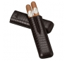 Davidoff Brown Leather 'lizard' Two Finger Corona Case