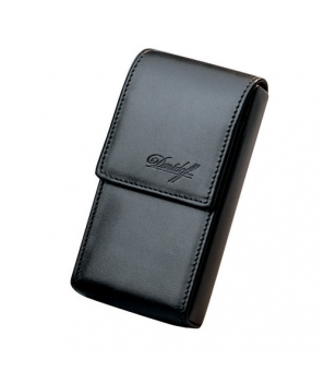 Davidoff Black Leather Five Finger Demi-Tasse Cigar Case