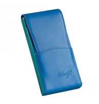 Davidoff Blue/green Leather Five Finger Demi-tasse Case