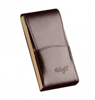 Davidoff Brown/beige Leather Five Finger Demi-tasse Case