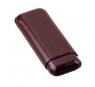 Davidoff Brown Leather Two Finger Double Corona Cigar Case