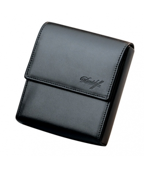Davidoff Black Leather Twenty Finger Mini Cigarillos Case