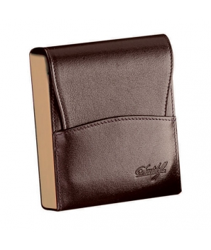 Davidoff Brown/Beige Leather Twenty Finger Mini Cigarillos Case