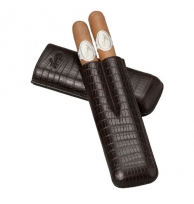 Davidoff Brown Leather Two Finger