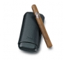 Zino Black Leather Three Finger Corona Cigar Cases