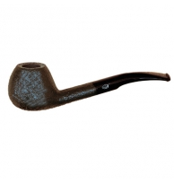 Davidoff Pipe No. 105 Half Bent Sandblasted Black