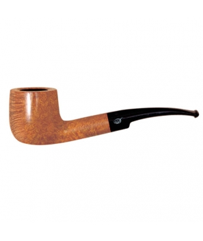 Davidoff Pipe No. 403 Half Bent Pot Bright Natural Finish